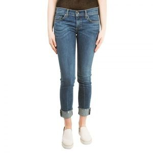 Rag & Bone Dre Jeans Raw Hem Medium Blue